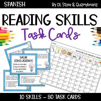 Spanish Reading STAAR Task Cards / Tarjetas de Lectura