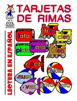 Tarjetas de Rimas (Rhyming Word Families in Spanish)