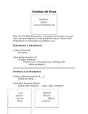 Tarjetas de Ropa y Presente Progresivo (Pres. Progressive