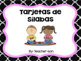 Tarjetas de Silabas