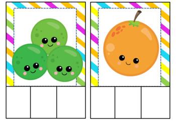 Tarjetas de Sílabas: Frutas.
