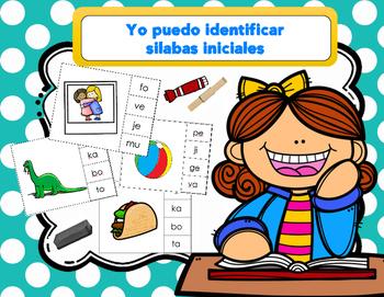 Tarjetas de Silabas Iniciales/ Spanish Beginning Syllable Cards