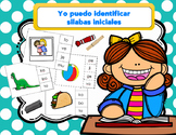 Tarjetas de Silabas Iniciales/ Spanish Beginning Syllable Cards