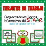 Tarjetas de Trabajo~Clasificando las Preguntas de Textos Informativos del STAAR