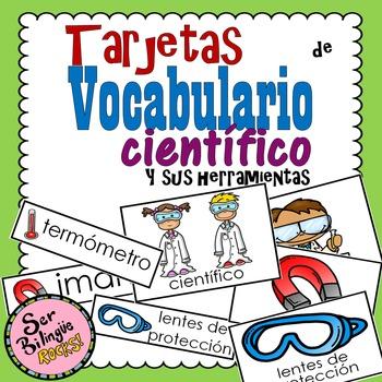 Tarjetas de Vocabulario - Científico y sus herramientas
