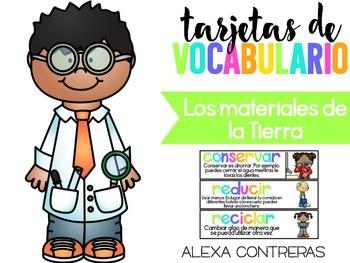 Tarjetas de Vocabulario Los Materiales de la Tiera (Science Vocabulary)