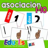 Tarjetas de asociación 1-10.