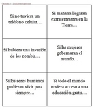 Tarjetas de conversación - Cláusulas Si - Imperfecto subjuntivo/Condicional