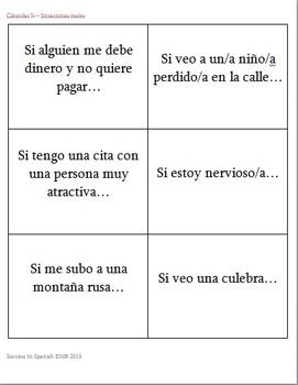 Tarjetas de conversación - Conversation Cards - Cláusulas Si - Presente