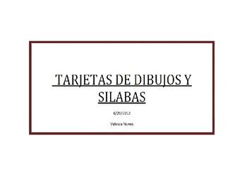 Tarjetas de dibujos y silabas