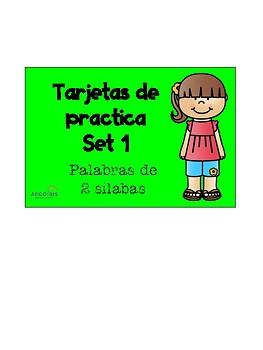 Tarjetas de dos silabas/ 2 Syllable task cards
