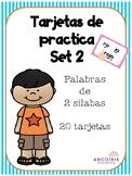 Tarjetas de dos silabas Set 2 / 2 Syllable task cards Set 2