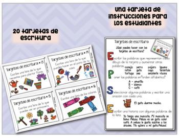 Tarjetas de escritura creativa ¡En español!