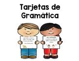 Tarjetas de gramática - Grammar Task Cards