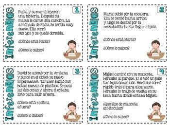 Tarjetas de inferencia - Inference task cards EN ESPAÑOL