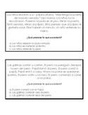 Tarjetas de inferencia en Espanol-  Spanish Inferencing cards with MC answer