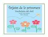 Tarjetas de la primavera  Spring Vocabulary Cards in Spanish