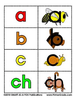 Tarjetas de las Letras del Alfabeto - ABC Flash Cards in Spanish