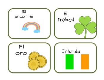 Tarjetas de marzo-Spanish Vocabulary Cards