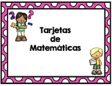 Tarjetas de matemáticas - Spanish Math Task Cards