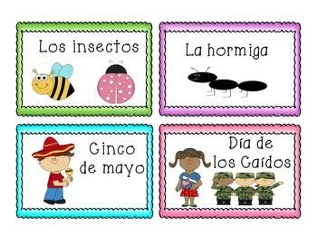 Tarjetas de mayo    Spanish Vocabulary Cards