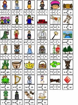 Tarjetas de sílabas-Cuentos de hada