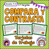 Tarjetas de trabajo: Comparar y contrastar  (Compare and C