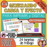 Tarjetas de trabajo: Generando Causa y Efecto (Cause & Eff