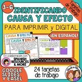 Tarjetas de trabajo: Identificando Causa y Efecto (Cause &