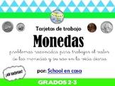 Tarjetas de trabajo: Las monedas | Coin Task Cards in Spanish [Dual Immersion]