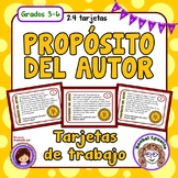 Tarjetas de trabajo: Proposito del Autor (Author's Purpose Task Cards Spanish)