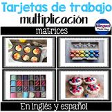 Tarjetas de trabajo de multipicacion: Matrices