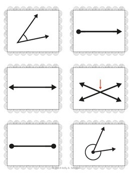 Math Task Cards in Spanish ( Lines and Angles  )