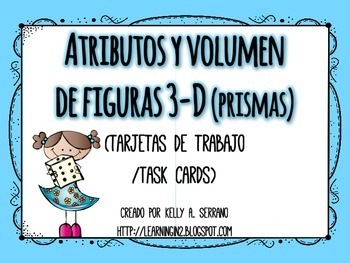 Math Task Cards in Spanish ( Volume )