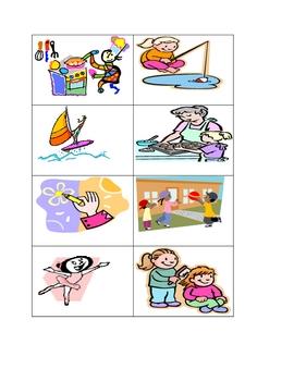 Tarjetas de verbos (palabras de accion)  bilingue (Verbs)