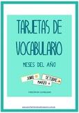 Tarjetas de vocabulario: Meses del año (Castellano)