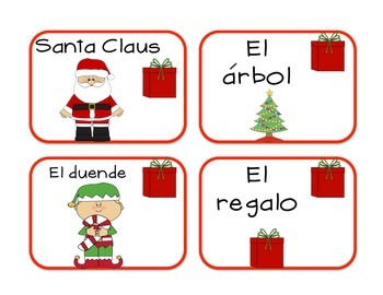 Tarjetas del diciembre-Vocabulario