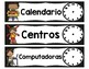 Tarjetas del horario (SPANISH schedule cards)