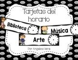 Tarjetas del horario (SPANISH schedule cards)