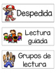 Tarjetas del horario (Schedule cards SPANISH)