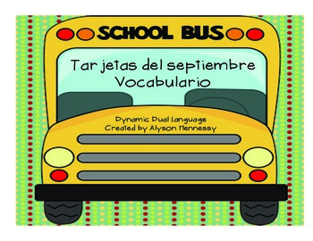 Tarjetas del septiembre-Vocabulario