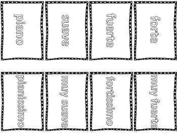 Tarjetas- intensidades para colorear y recortar (sencilla)