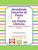 Tarjetas para aprender conceptos de poesia y términos literarios
