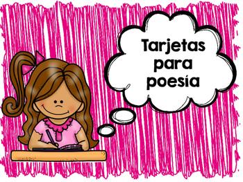 Tarjetas para poesía- Spanish Poetry Response Cards