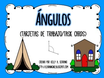 Math Task Cards in Spanish ( Measuring Angles )