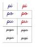 Tarjetas silábicas Montessori