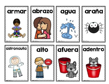 Tarjetitas del abecedario