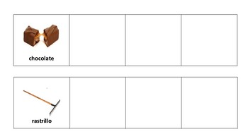 Tarjets de Rimas para montessori