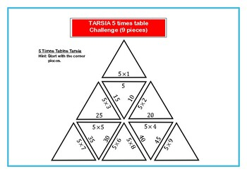Tarsia Differentiated 5 Times Table Challenge