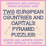 Tarsia Matching Puzzle - Eastern and Western Europe Countries and Capitals -Fun!